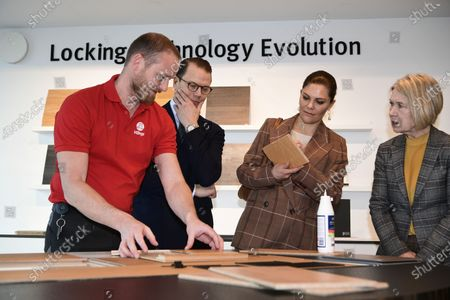 Prince Daniel, Crown Princess Victoria at Valinge Innovation