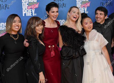 Stock Image of Cathy Yan, Rosie Perez, Mary Elizabeth Winstead, Margot Robbie, Ella Jay Basco and Chris Messina