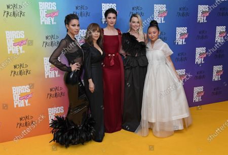 Jurnee Smollett-Bell, Rosie Perez, Mary Elizabeth Winstead, Margot Robbie and Ella Jay Basco