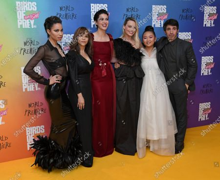 Jurnee Smollett-Bell, Rosie Perez, Mary Elizabeth Winstead, Margot Robbie, Ella Jay Basco and Chris Messina