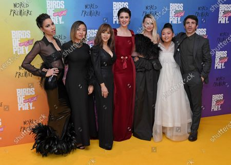 Jurnee Smollett-Bell, Rosie Perez, Mary Elizabeth Winstead, Margot Robbie, Ella Jay Basco and Chris Messina