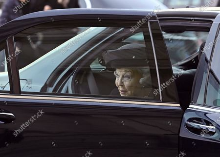 Dutch Princess Beatrix (C) upon her arrival to the funeral of Spanish princess Pilar de Borbon, Duchess of Badajoz and Spain's Emeritus King Juan Carlos I's sister, at the Real Monasterio de San Lorenzo basilica, in El Escorial, outside Madrid, Spain, 29 January 2020. More than 200 people attend the funeral, held 21 days after the death of the princess at 83.