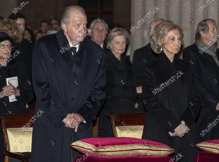 Editorial picture of Funeral of Princess Pilar de Borbon, Emeritus King Juan Carlos I sister, El Escorial, Spain - 29 Jan 2020