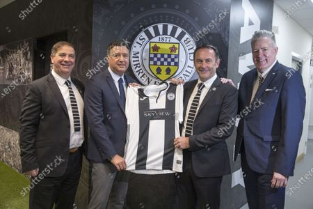 St Mirren FC fan owned by 2021 under unique charity partnership plans, with unique link up between the clubs supporters trust and Kibble. Tony Fitzpatrick (former st mirren legend) , Jim Gilliespie (kibble)  Gordon Scott (st Mirren chairman) and George Adam (MSP and fan)