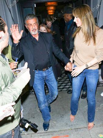 Sylvester Stallone and Jennifer Flavin at Craig's Restaurant