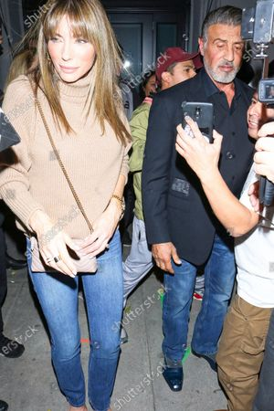 Jennifer Flavin and Sylvester Stallone at Craig's Restaurant
