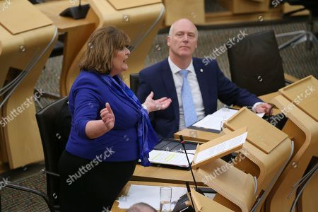 Editorial picture of Scottish Government Debate, Recognising Scotland in Europe, The Scottish Parliament, Edinburgh, Scotland, UK - 29 Jan 2020