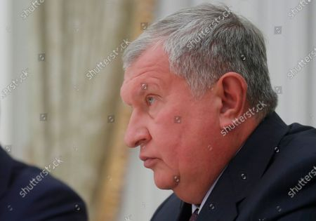 Chief Executive of Rosneft Igor Sechin attends a meeting of Russian President Vladimir Putin with Bavarian State Prime Minister Markus Soeder (both not pictured)  in Moscow, Russia, 29 January  2020.