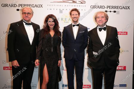 Stock Picture of Remi Depoix, Marion Jolles, Romain Grosjean and Jean-Michel Wilmotte