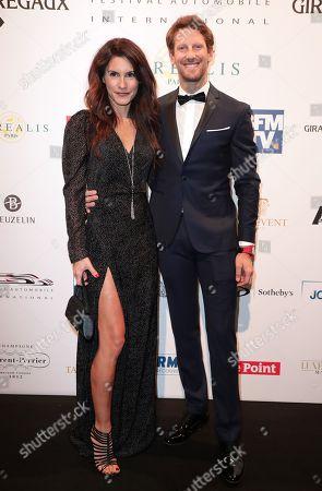 Stock Image of Marion Jolles-Grosjean and Romain Grosjean