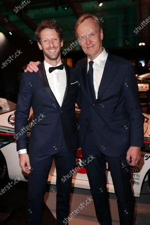 Romain Grosjean and Ari Vatanen
