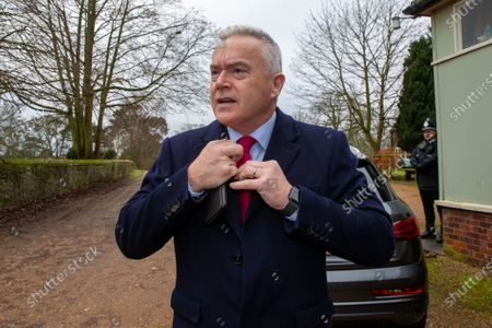 BBC News reader Huw Edwards. Mr Edwards was at West Newton village hall in Norfolk where he was due to speak at a WI meeting with the Queen, but the Queen pulled out at the last minute due to illness.