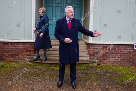 Stock Picture of BBC News reader Huw Edwards. Mr Edwards was at West Newton village hall in Norfolk where he was due to speak at a WI meeting with the Queen, but the Queen pulled out at the last minute due to illness.