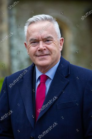 Stock Photo of BBC News reader Huw Edwards. Mr Edwards was at West Newton village hall in Norfolk where he was due to speak at a WI meeting with the Queen, but the Queen pulled out at the last minute due to illness.