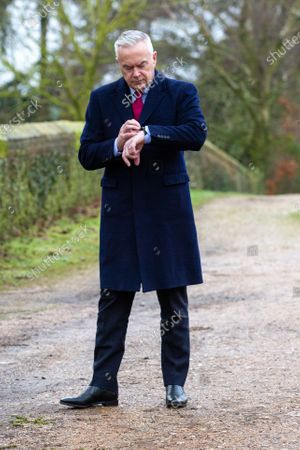 Editorial picture of Huw Edwards at West Newton village hall, Norfolk, UK - 23 Jan 2020