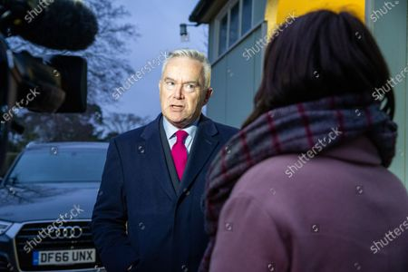 Editorial photo of Huw Edwards at West Newton village hall, Norfolk, UK - 23 Jan 2020