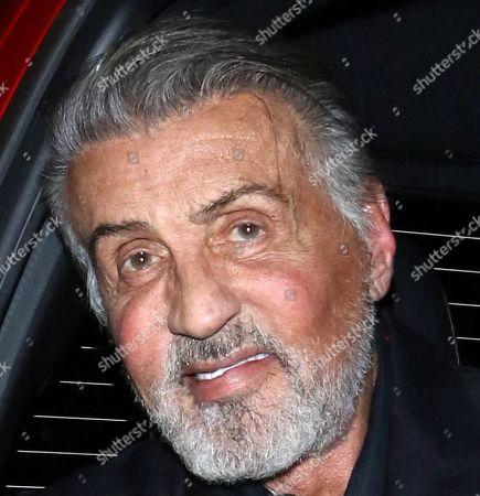 Sylvester Stallone outside Craig's Restaurant