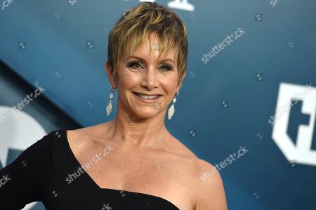 SAG-AFTRA President, Gabrielle Carteris at the 26th annual Screen Actors Guild Awards in Los Angeles. The union that represents actors and television performers issued a series of standards and guidelines Wednesday for crew members who supervise scenes involving sex and nudity in an attempt to combat on-set sexual harassment