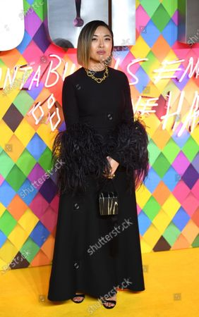 Cathy Yan poses during the world premiere of the film 'Birds of Prey (and the Fantabulous Emancipation of One Harley Quinn)' in London, Britain, 29 January 2020. The movie will be released in the UK on 07 February 2020.