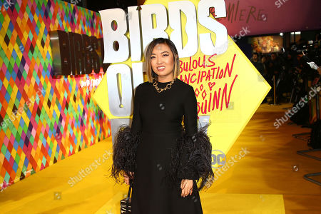 Cathy Yan poses for photographers upon arrival at the world premiere of 'Birds of Prey' in London