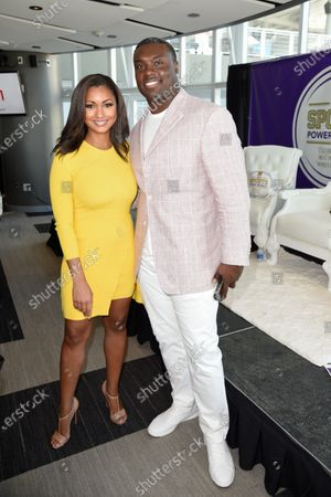 Eboni K. Williams and former NFL player Ronnie Brown