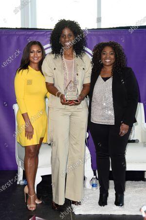 Eboni K. Williams from left, Terri Carmichael Jackson