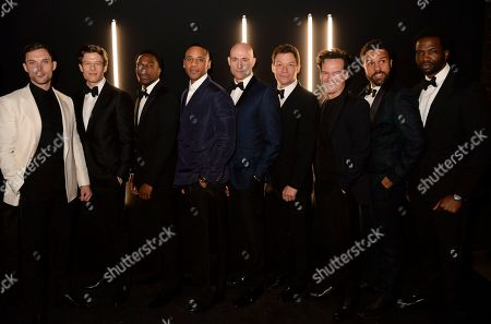 Stock Image of Ed Skrein, James Norton, Tosin Cole, Reggie Yates, Mark Strong, Dominic West, Andrew Scott, O T Fagbenle and Sope Dirisu