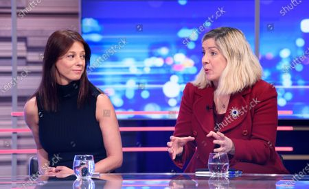 Stock Image of Gloria de Piero and Andrea Jenkyns