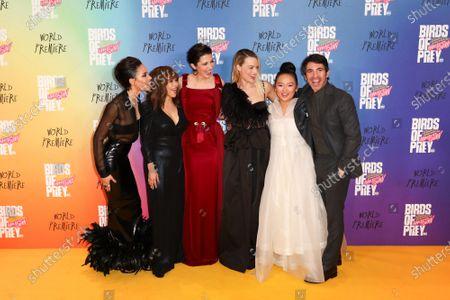 Jurnee Smollett-Bell, Cathy Yan, Rosie Perez, Mary Elizabeth Winstead, Margot Robbie, Ella Jay Basco and Chris Messina
