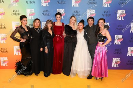 Bryan Unkeless, Jurnee Smollett-Bell, Sue Kroll, Cathy Yan, Rosie Perez, Mary Elizabeth Winstead, Margot Robbie, Ella Jay Basco, Chris Messina and Christina Hodson