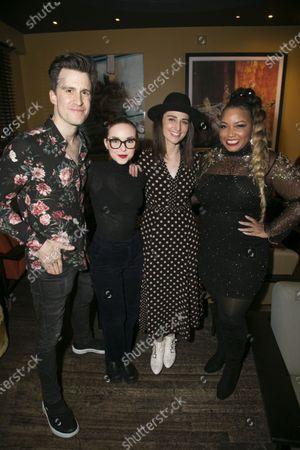 Gavin Creel (Dr Pomatter), Evelyn Hoskins (Dawn), Sara Bareilles (Jenna/Music/Lyrics) and Marisha Wallace (Becky)