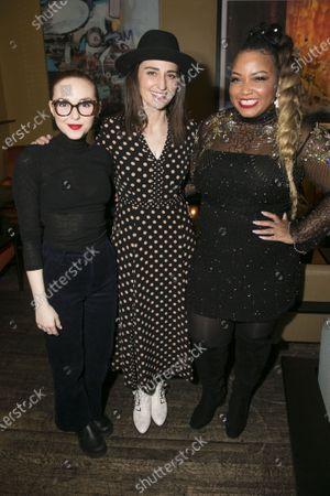 Evelyn Hoskins (Dawn), Sara Bareilles (Jenna/Music/Lyrics) and Marisha Wallace (Becky)