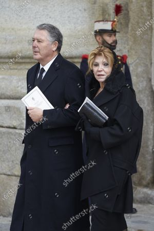 Editorial image of Princess Pilar de Borbon funeral, San Lorenzo, Spain - 29 Jan 2020