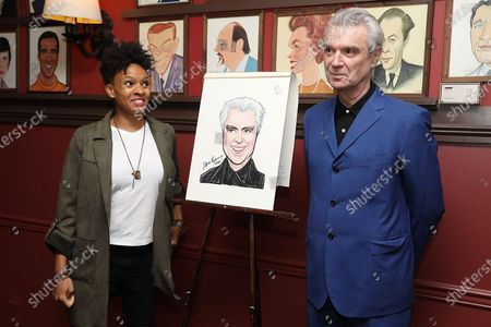 Editorial image of David Byrne Honored with a Sardi's Portrait Commemorating AMERICAN UTOPIA's Broadway Engagement, New York, USA - 29 Jan 2020