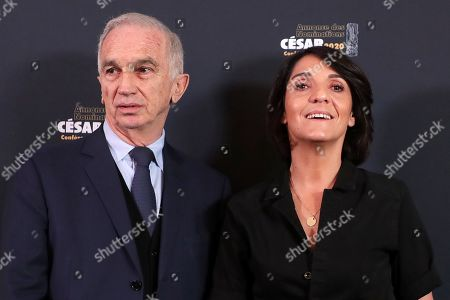 The César President Alain Terzian and Florence Foresti
