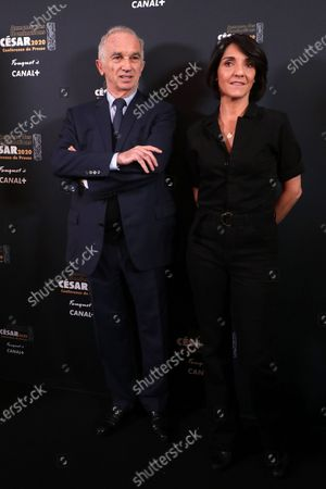 Stock Picture of The César President Alain Terzian and Florence Foresti
