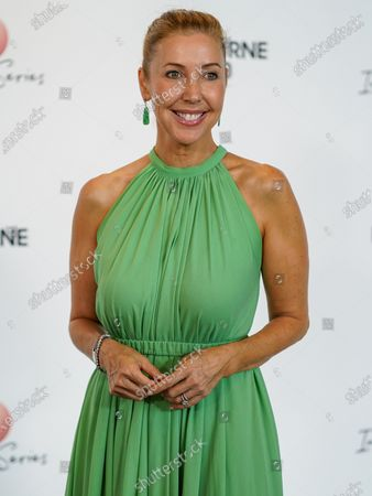 Stock Photo of Australian television presenter Catriona Rowntree arrives at the Australian Open (AO) Inspirational Lunch at the Glasshouse during day eleven of the Australian Open tennis tournament in Melbourne, Australia, 30 January 2020.