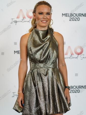 Danish tennis player Caroline Wozniacki arrives at the Australian Open (AO) Inspirational Lunch at the Glasshouse during day eleven of the Australian Open tennis tournament in Melbourne, Australia, 30 January 2020.