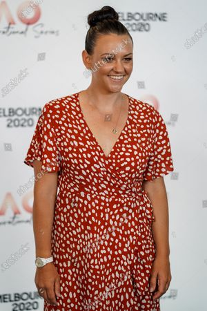 Australian tennis player Casey Dellacqua arrives at the Australian Open (AO) Inspirational Lunch at the Glasshouse during day eleven of the Australian Open tennis tournament in Melbourne, Australia, 30 January 2020.