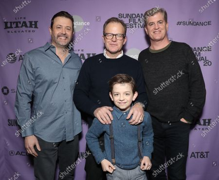 Writer Stephan Pastis, Winslow Fegley and director Tom McCarthy and producer Jim Whitaker
