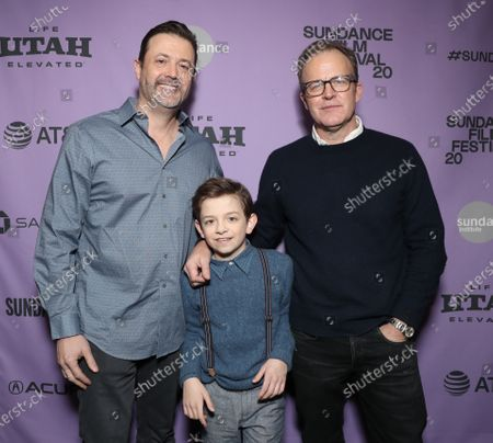 Writer Stephan Pastis, Winslow Fegley and director Tom McCarthy