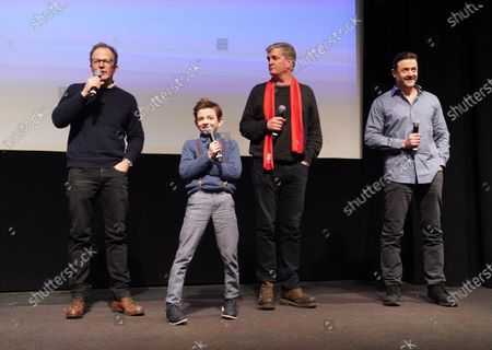 Director Tom McCarthy, Winslow Fegley, Producer Jim Whitaker and Writer Stephan Pastis