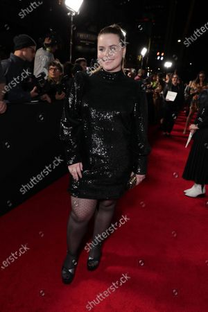 """Jessie Ennis at the Apple TV+ """"Mythic Quest: Raven's Banquet"""" Premiere at the Cinerama Dome."""