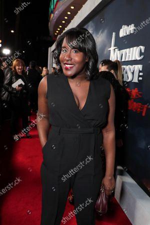 "Naomi Ekperigin at the Apple TV+ ""Mythic Quest: Raven's Banquet"" Premiere at the Cinerama Dome."
