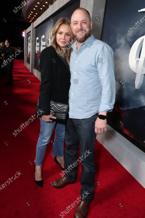 "Stock Photo of Andrea Roth and Todd Biermann at the Apple TV+ ""Mythic Quest: Raven's Banquet"" Premiere at the Cinerama Dome."