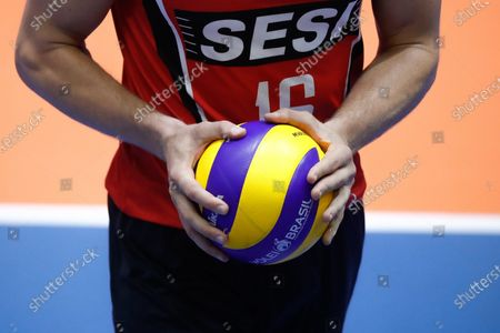 Eder Carbonera of Sesi-SP in action during a Copa Libertadores match between Sesi-SP and Ciudad at San Lorenzo Sports Center in Buenos Aires, Argentina, 29 January 2020.
