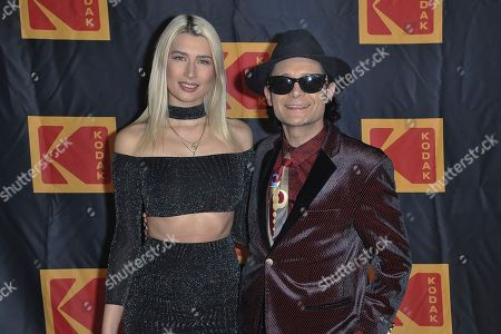 Courtney Anne Mitchell, Corey Feldman. Courtney Anne Mitchell, left, and Corey Feldman attend the 4th Annual Kodak Film Awards at the American Society of Cinematographers clubhouse, in Los Angeles