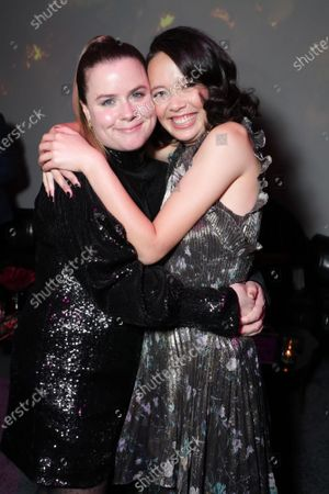 """Jessie Ennis and Charlotte Nicdao at the Apple TV+ """"Mythic Quest: Raven's Banquet"""" Premiere After Party at the Sunset Room."""