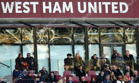 West Ham United owners David Gold, David Sullivan and club vice-chairman Karren Brady