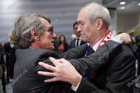 David Sassoli and Richard Corbett. Brexit - Farewell ceremony for departing British MEPs